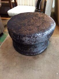 Reupholstered footstool large