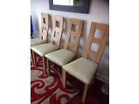4 GOOD QUALITY DINING CHAIRS