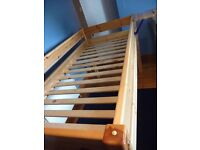 THUKA PINE MID-SLEEPER SINGLE BED - EXCELLENT QUALITY, V GOOD CONDITION