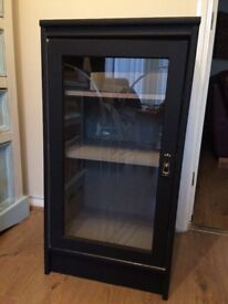 Black glass fronted unit