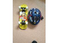For sale,Kids Skate board and Helmet