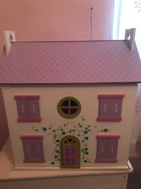 Emporium dolls house with figures and accessories