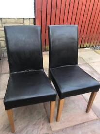 Free used leather dining chairs