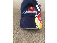 Red bull cap signed by David Coulthard