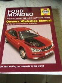 Ford Mondeo Owners Workshop Manual (Haynes) 2003-2007 (03-56 Reg)