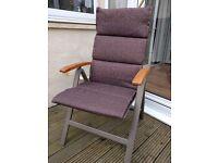 4 x Hartman reclining conservatory/patio folding chairs.