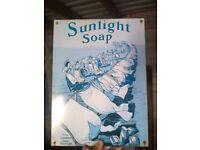 Sunlight soap retro sign