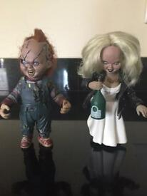 Chucky and bride Tiffany collectables