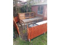 6ft Rabbit Hutch & Run (with optional fencing & accessories)