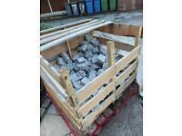 Approx 350 -400 Granite Setts 100x100x50mm