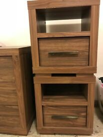 Next 2x chest of drawers & 2x bedside cabinets