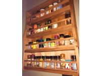 Giant solid wood pine spice rack