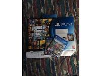 PS4 with Games and Controller