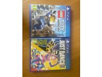 PlayStation PS4 Lego and Just Dance games
