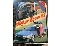 Motor show magazine 1981