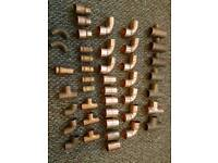 42 Copper Pipe fittings 15mm 22mm job lot