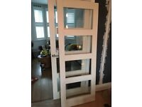 For sale – Two internal mdf doors with 4 glazed panels