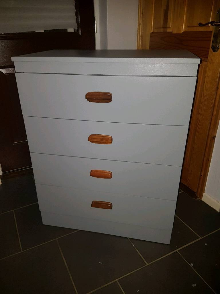 Chest of 4 Drawers in Slate Grey Colour
