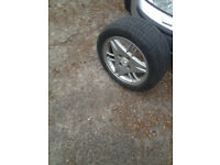 "1x Ford 4 stud 15""alloy wheel and tyre"