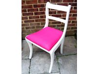 Lovely Regency Style Bedroom Chair painted in Clotted Cream Colour