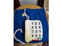 Home landline telephone with big numbers