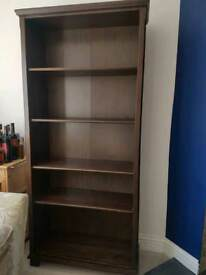 Bookcase dark wood colour