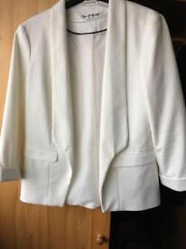Miss Selfridge white dress jacket size 12 petite