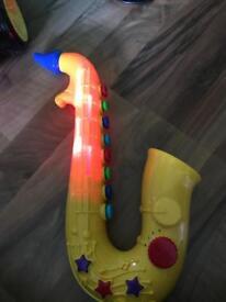 Light up singing saxophone