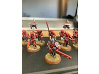 Tau Fire warriors Warhammer 40k - Professionally painted