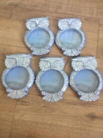 Owl photo frames £2.50 each