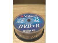DVD+R verbatim 16* 4,7 GB each