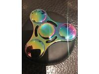 Fidget spinner rainbow metal camouflage autism