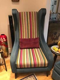 DFS Velvet Armchair