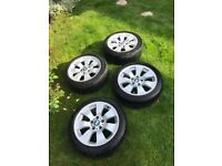 """17""""BMW 3 Series E90 E92 E91 17"""" Alloy Wheels With Bridgestone 225/45R17 Tyres"""