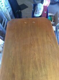 Sturdy wooden dining table and chairs for sale as set - extends to sit 8