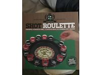 Shot roulette and Basketball drinking game and shot glasses