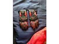Motorbike Leather Gloves - Small