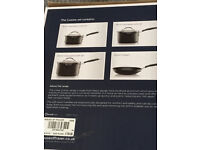 Brand New Linea Cuisine Hard Anondised 4 Piece Pan Set