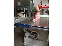 Table Saw, large rip saw, from Axminster Industrial range. 400mm blade. 3 phase