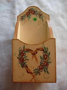 Handcrafted, Hand Painted Folk Art Wooden Letter Box - New