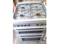 Gas cooker, free delivery, double oven.