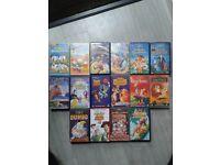 Disney genuine VHS Videos x 15 (minus 1 from pic)