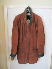 Mans Quality Suede Leather Coat