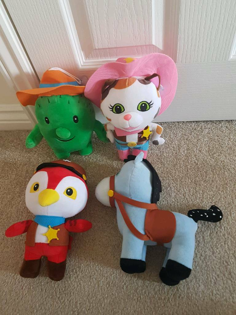 4 x large Sheriff Callies soft toys - immaculate