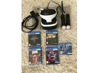 PlayStation VR bundle - headset - controllers - games