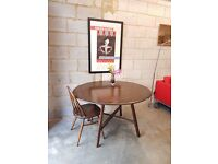 Ercol Mid Century Vintage Drop Leaf Table