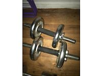 York dumbbell set with 4x2.5kg weights