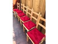 6x Wooden Chairs
