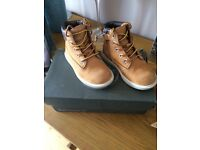 Timberland Groveton Tan Boots - Infant Size 6