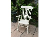 Solid Pine Painted Carver Chair